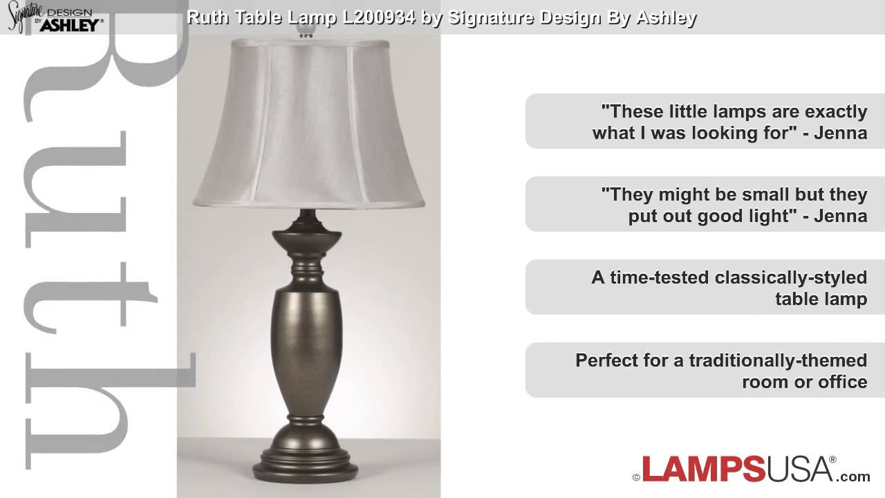 Ashley ruth 3 way table lamp l200934 youtube ashley ruth 3 way table lamp l200934 lampsusa aloadofball Image collections