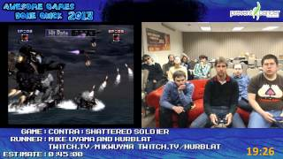 Contra: Shattered Soldier [PS2] :: SPEED RUN (0:34:27) *Live at AGDQ 2013*