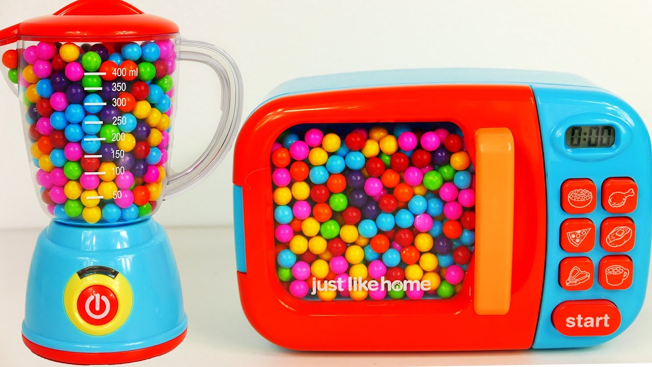 Microwave And Blender Candy Home Kitchen Toy Appliances