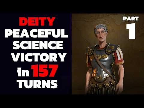 Civ 6 - T157 Deity PEACEFUL Science Victory - Part 1