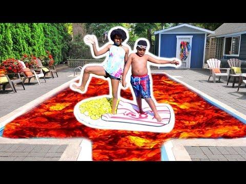 THE POOL IS LAVA!!! - Shasha And Shiloh - Onyx Kids