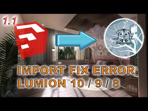 ✅  Import Sketchup to Lumion 10 / 9 / 8 Fix Error Review | Ec Design