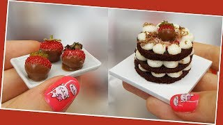 REAL but Mini strawberry cake&cupcakes/chocolate cake/mini strawberry