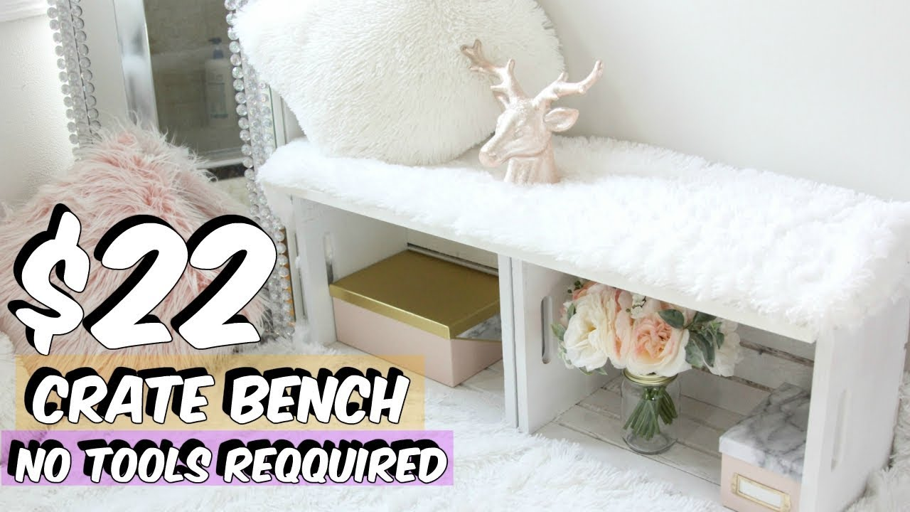 CRATE BENCH HACK DIY CRATE FURNITURE YouTube