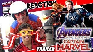 🎬 Vingadores Ultimato e Capitã Marvel - Reaction Teaser do Super Bowl - Irmãos Piologo Filmes