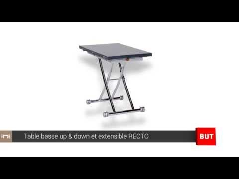 Table Basse Relevable Et Extensible Grise Recto But Youtube
