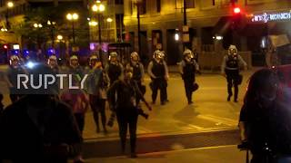 USA: Floyd protests descend into vandalism and looting in Chicago