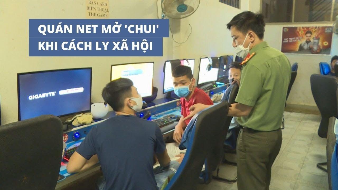 Quán net mở 'chui' khi cách ly xã hội, game thủ trốn trong nhà vệ sinh