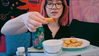 defending my unironic love for tiktok while eating nuggets (mukbang)