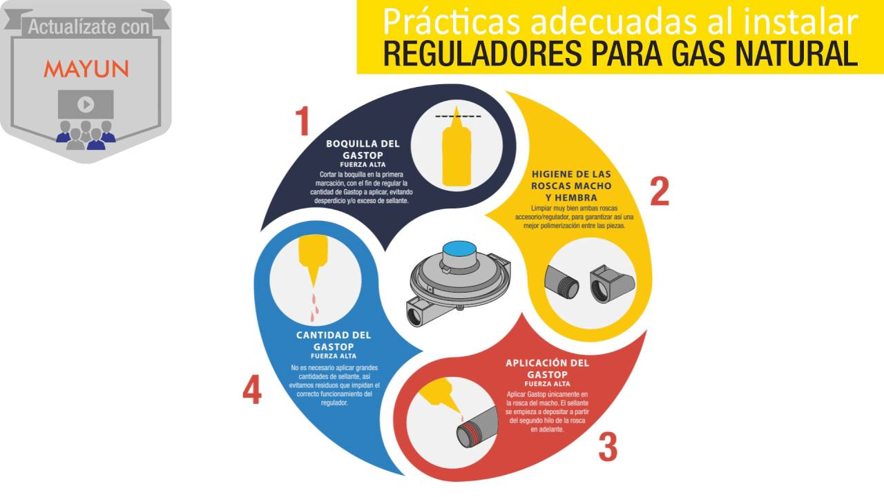 Instalaci n de regulador para gas natural youtube - Regulador de gas ...