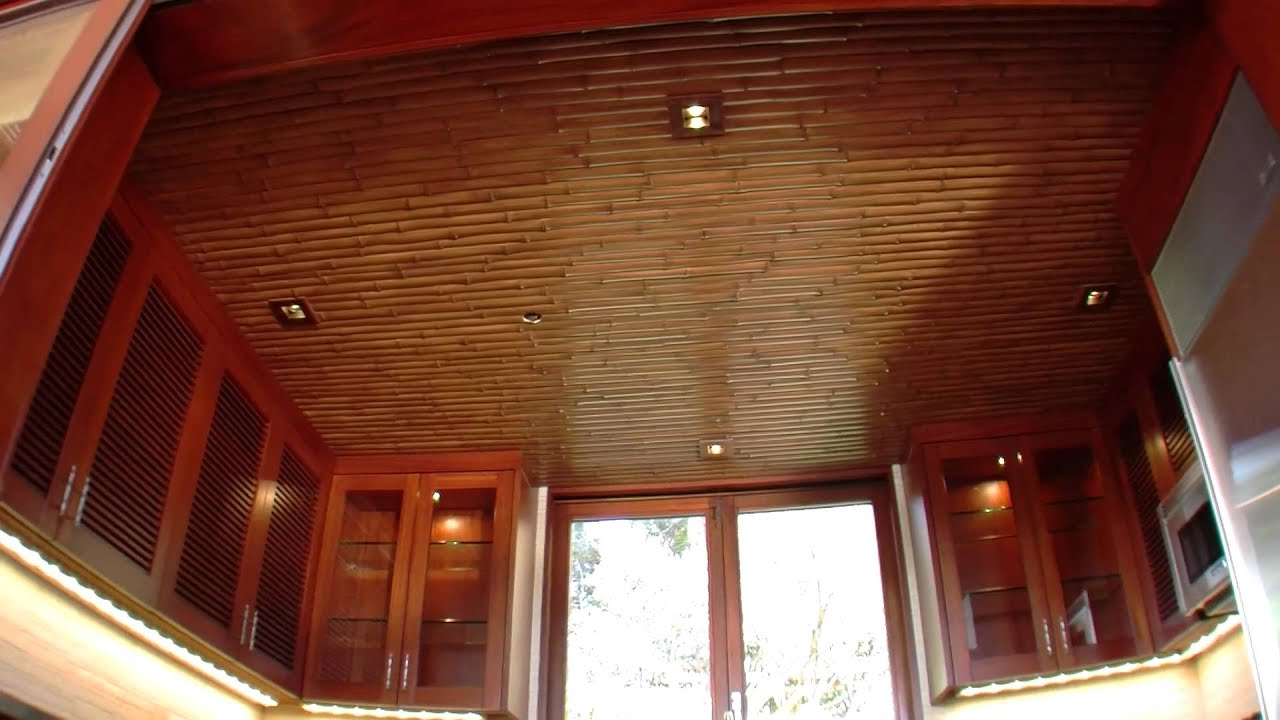 Poolside cabana offers modern bamboo ceiling decor youtube dailygadgetfo Images