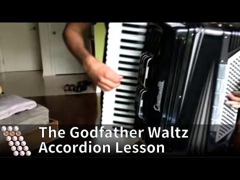 Godfather Waltz  Nino Rota  Tutorial on playing the song on accordion