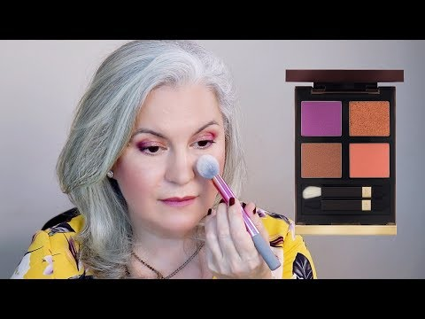 TOM FORD  African Violet Eyeshadow Quad Swatches And Makeup Look