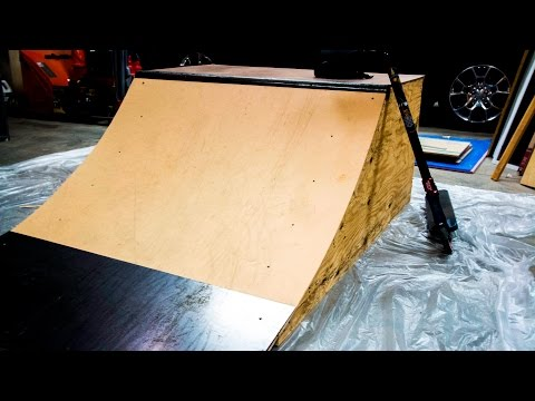 BUILDING A 2' QUARTERPIPE!!!