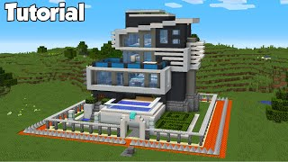 Minecraft: How to Build The Safest Modern House - Tutorial