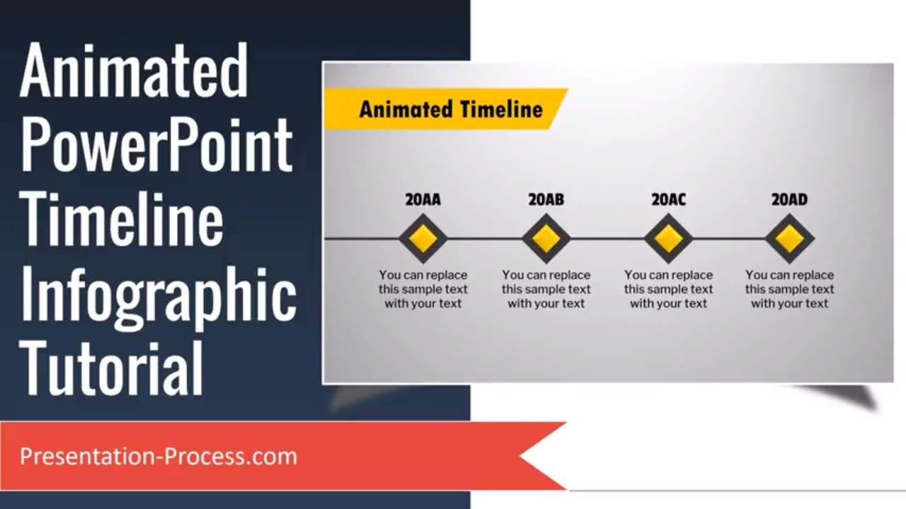 Animated PowerPoint Timeline Infographic Tutorial - YouTube