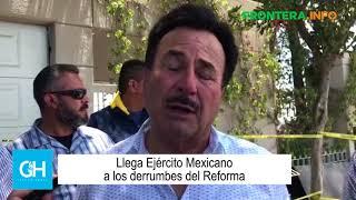 Llega Ejército Mexicano a los derrumbes del Reforma thumbnail