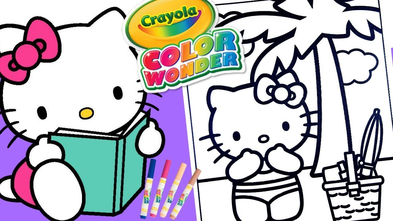Hello Kitty Coloring book page educational Crayola Mess Free Color ...