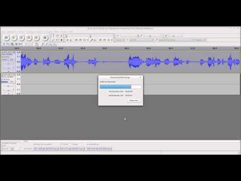 Eine MP3-Datei mit Audacity bearbeiten.