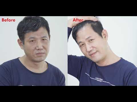 Dexe black hair color dye comb shampoo