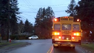 Caught on Cam: Disturbing driving near B.C. school bus | Video