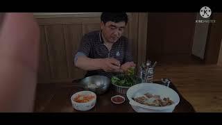 산청흑돼지삼겹살&짜파게티 6명가족 식사