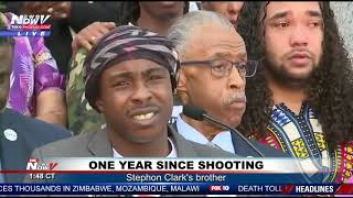 REMEMBERING STEPHON CLARK: Brother Speaks Among Civil Rights Activists (FNN)