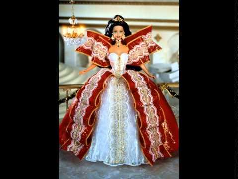 Holiday Barbie Dolls 1988-2015 - YouTube