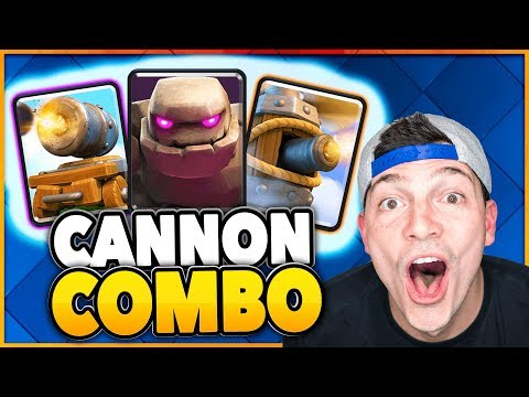 FLYING MACHINE GOLEM CANNON CART DECK 😂 Clash Royale