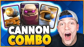 flying machine golem cannon cart deck clash royale