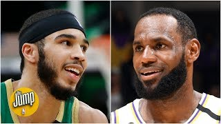 LeBron gave Jayson Tatum a HUGE endorsement on Instagram after Celtics vs. Lakers | The Jump