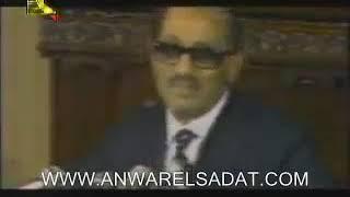 الرئيس أنور السادات انا مستعد أن اذهب الي إسرائيل و رحله السلام