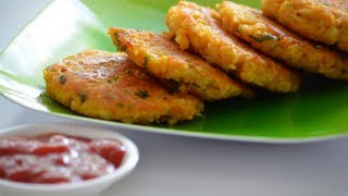 Recipe - Annam Cutlets (Rice & Oats Patties) Recipe With English Subtitles