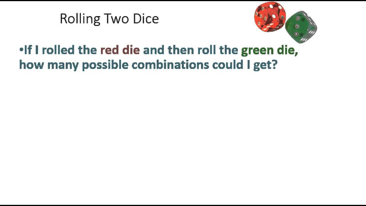 101 rolling two dice possible outcomes youtube 101 rolling two dice possible outcomes ccuart Choice Image