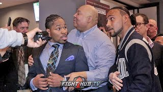 SHAWN PORTER CONFRONTS KEITH THURMAN FOR REMATCH (HEATED CONFRONTATION)