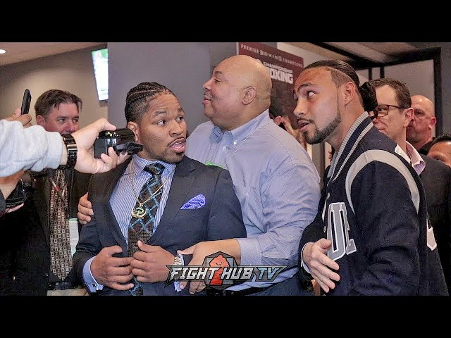 SHAWN PORTER CONFRONTS KEITH THURMAN FOR REMATCH,  HEATED CONFRONTATION