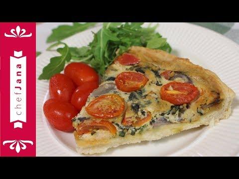 vegan-spinach-tomato-basil-and-tofu-quiche