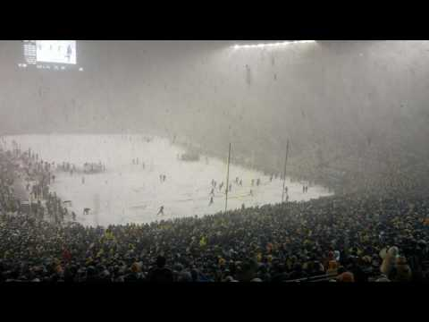 "Michigan Stadium singing ""Let it snow!"" during a blizzard against Indiana 2016"