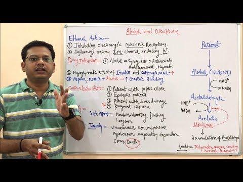 Alcohol And Disulfiram (Part- 02)  Mechanism Of Action, Contraindication And Drug Interaction. Hindi