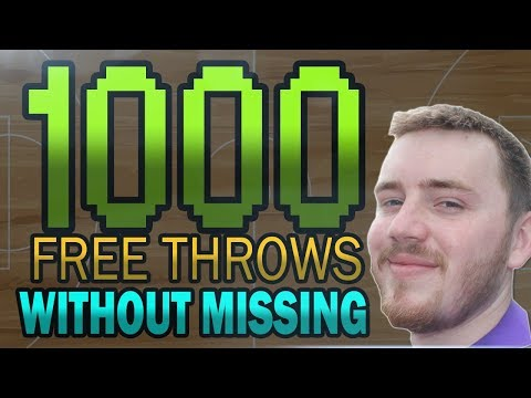 HITTING 1,000 FREE THROWS IN A ROW!! IRL BASKETBALL VIDEO - GREATEST BASKETBALL PLAYER EVER?