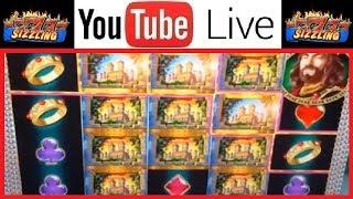 $25 MAX BET JACKPOT HAND PAY BONUS + BIG WINS on The King and the Sword Casino Slot Machine Video