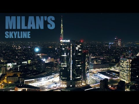 Milan By Drone | Milan Skyline | A City At Night | Milano 4K Drone