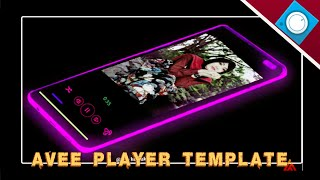 Template Avee player Neon Mobile Free 07 [ Nocopyrightsong ]