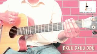 Pani da strumming pattern guitar lesson (www.tamsguitar.com)