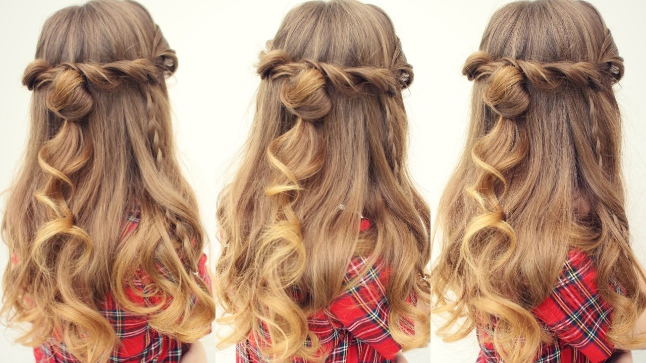 Easy Half Up Half Down Hairstyle | Half Down Hairstyles ...