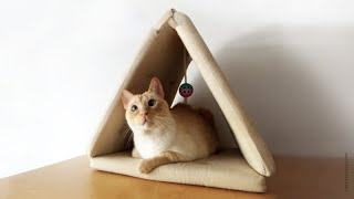 How to Make a Cat Teepee Mat
