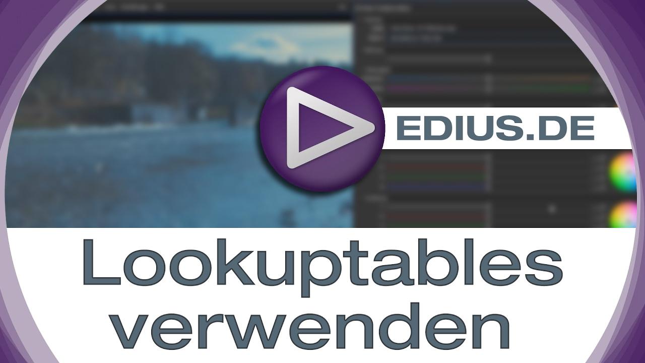 EDIUS Podcast - Lookuptables verwenden