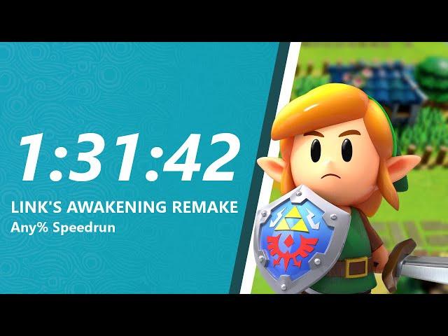 Link's Awakening Remake Any% Speedrun in 1:31:42