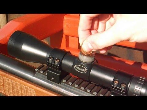 How to zero an air rifle scope Tutorial