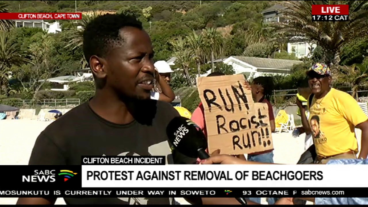 Protest against removal of beach goers at Clifton Fourth beach